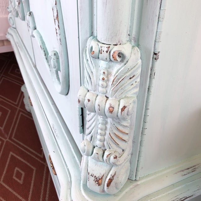 French Provencal Large Scale Armoire For Sale - Image 12 of 13