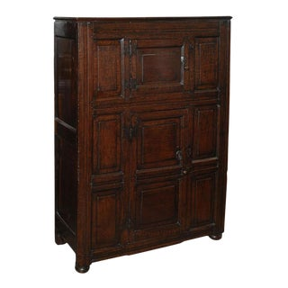 Early 19th Century Welsh Oak and Elm Cabinet For Sale