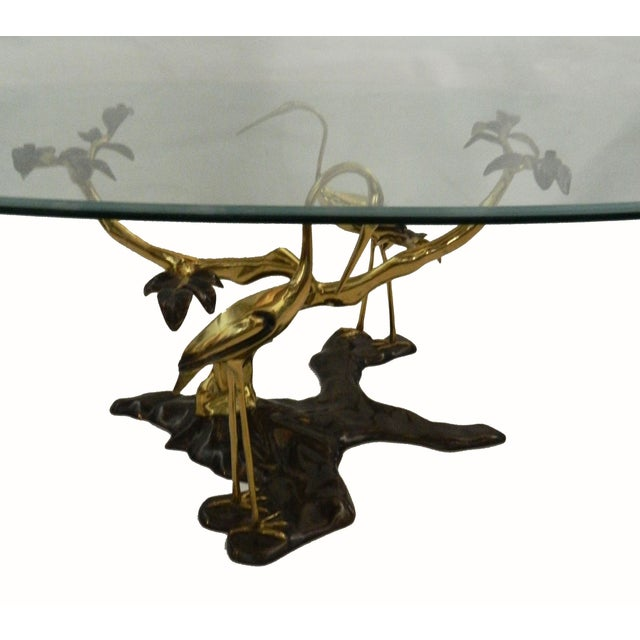 Willy Daro Vintage Bronze & Brass Coffee Table - Image 5 of 6