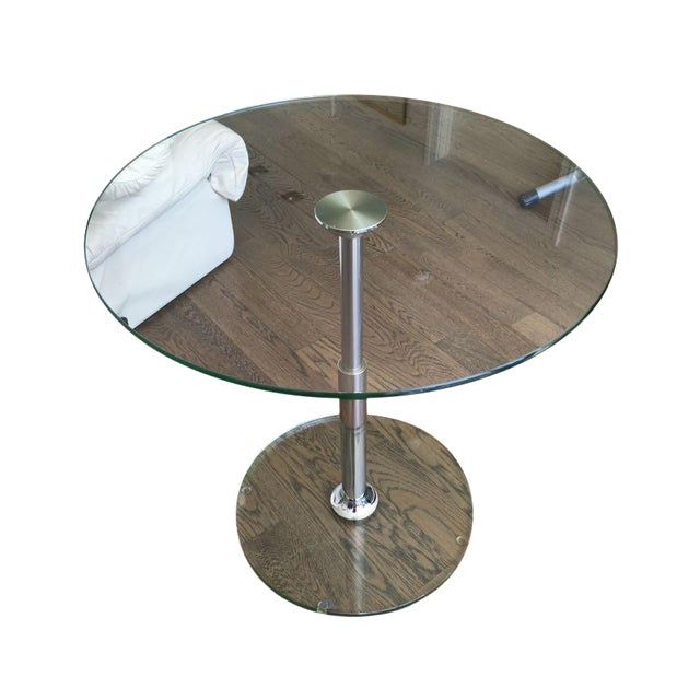 Draenert 1010 Largo Glass Coffee/Bistro Table - Image 1 of 4