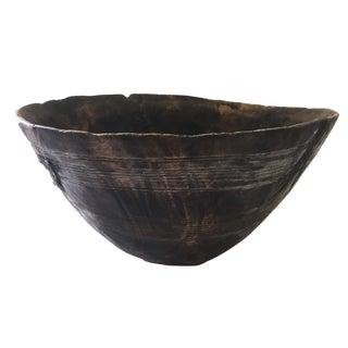 """Rare Old Igbo Ceremonial Wood Bowl 12"""" Diameter"""
