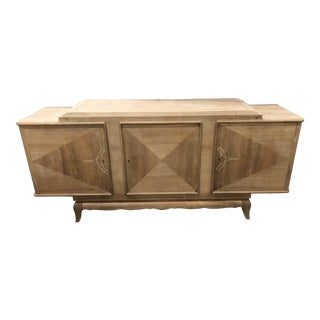 1940s French Art Nouveau Tan Sideboard