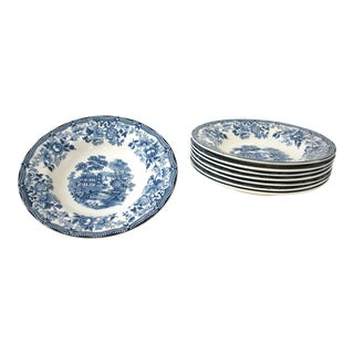Blue & White Royal Staffordshire Bowls - Set of 8