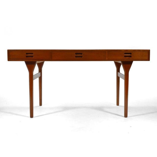 Nanna Ditzel & Jørgen Ditzel Three-Drawer Teak Desk For Sale In Chicago - Image 6 of 10