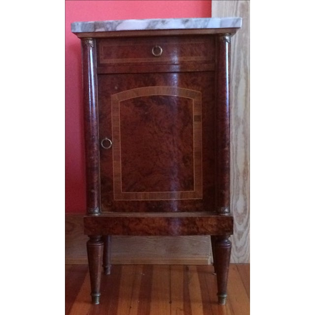 French Empire-Style Burlwood Side Table - Image 2 of 6