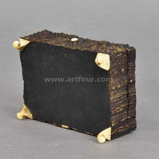 Great Miniature Antler Casket 1860 For Sale - Image 6 of 7