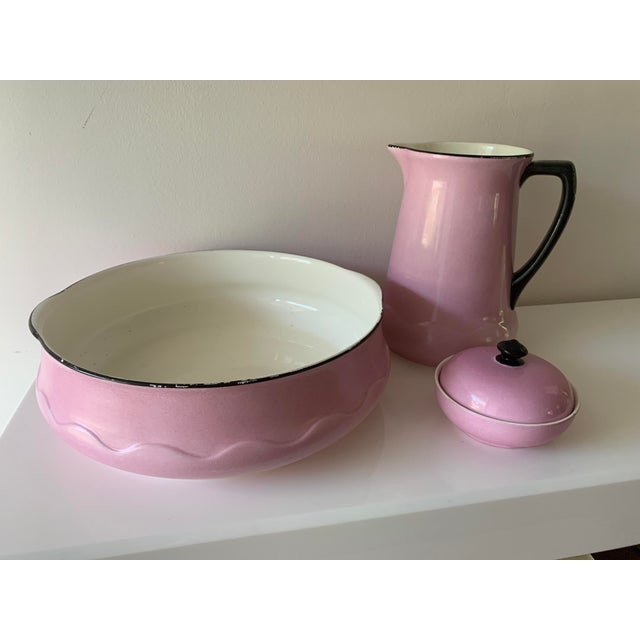Mid-Century Modern Early 20th Century Ludwig Wessel Wash Basin, Pitcher & Soap Container, 3 Pieces For Sale - Image 3 of 13