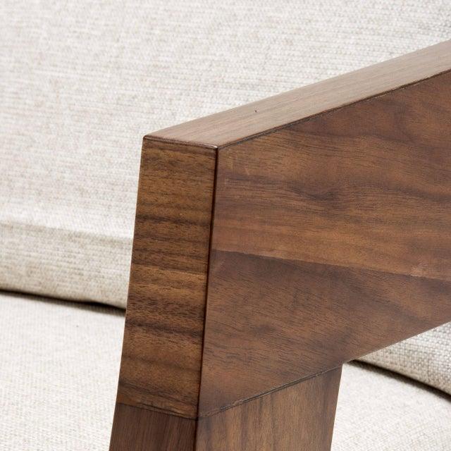 Mid-Century Modern Walnut Pillow Back Armchair | Eichholtz Rubautelli For Sale - Image 3 of 6