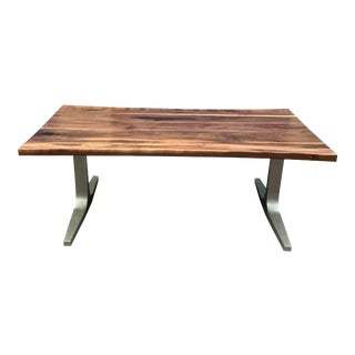 Medellin Mid-Century Modern Solid Walnut Dining Table For Sale