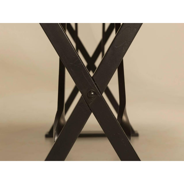 Industrial Inspired Kitchen Table From French White Oak and Steel For Sale - Image 9 of 10