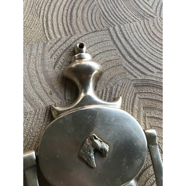Vintage Terrier Dog Solid Brass Door Knocker For Sale - Image 11 of 12