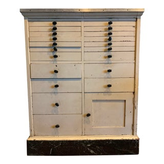 Vintage Art Deco Style Dental Medical Cabinet For Sale
