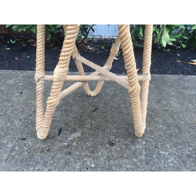 Vintage French Rope Stool For Sale - Image 4 of 5