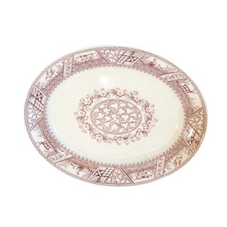 Extra Large Transferware Thanksgiving Game Platter For Sale