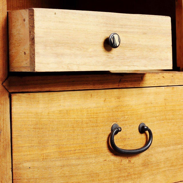 Asian Meiji Period 19th Century Japanese Kiri Wood Tansu Chest with Sliding Panels For Sale - Image 3 of 8