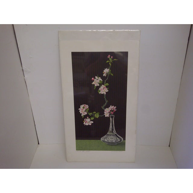 Flowers by Norman Carton, limited edition. Numbered print 4/25. This is an E.A. artist's proof. Plastic wrapped on...