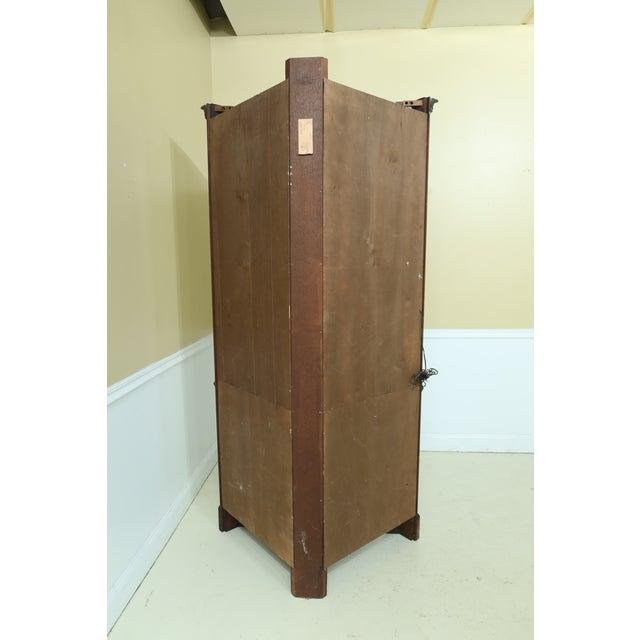 Henkel Harris Model 1114 Mahogany Large Corner Cabinet For Sale - Image 9 of 12