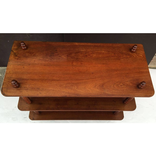 Wood English Console Shelves of Mahogany with Bobbin Turned Supports For Sale - Image 7 of 11