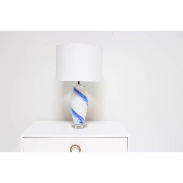 Handblown Blue Sky Lamp For Sale - Image 4 of 6