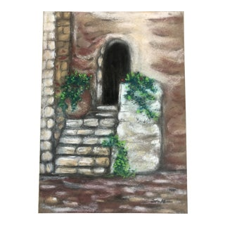"Nancy Smith ""Somewhere in France"" Original Pastel Painting For Sale"