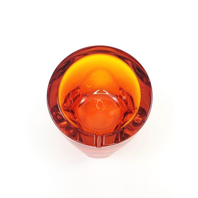 Mid Century Viking Art Glass Orange Orb Ashtray - Image 2 of 5