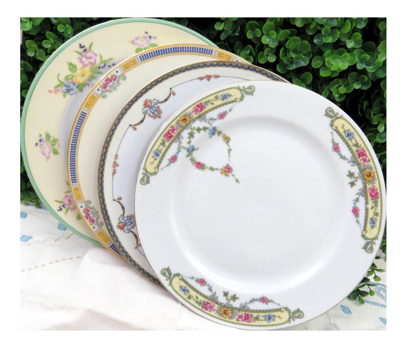 Vintage Mismatched China Dinner Plates - Set of 4  sc 1 st  Chairish & Vintage Mismatched China Dinner Plates - Set of 4 | Chairish