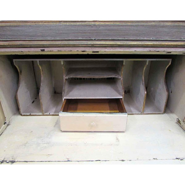 Antique Secretary Desk & Cabinet Duo For Sale - Image 6 of 10