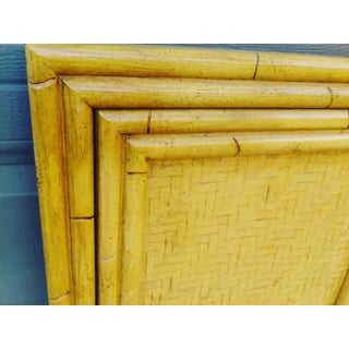 A Pair Faux Bamboo Twin Size Palm Beach Regency Style Wood Headboards Preview