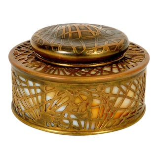 Pine Needle Inkwell by Tiffany Studios For Sale