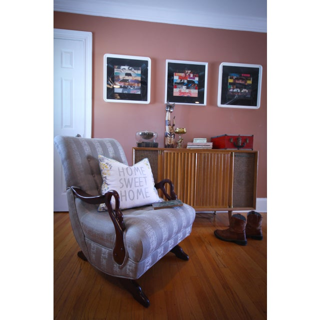 Antique 1930 S Swan Arm Gooseneck Rocking Chair Chairish