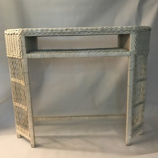 White Wicker Console or Dressing Table Preview