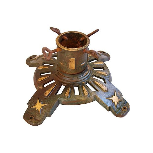 Antique Cast Iron Flag /Christmas Tree Stand - Image 1 of 5