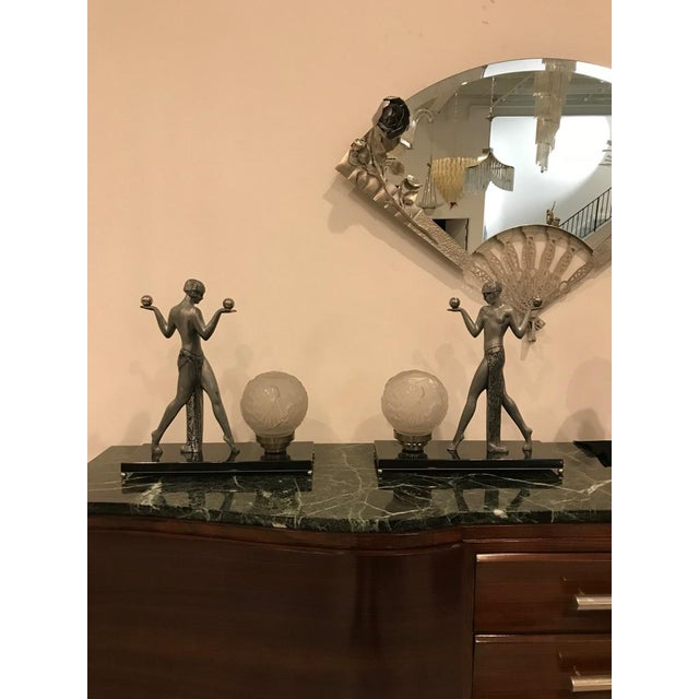 Art Deco Early 20th Century French Art Deco Muller Frères Luneville Table Lamps - a Pair For Sale - Image 3 of 13
