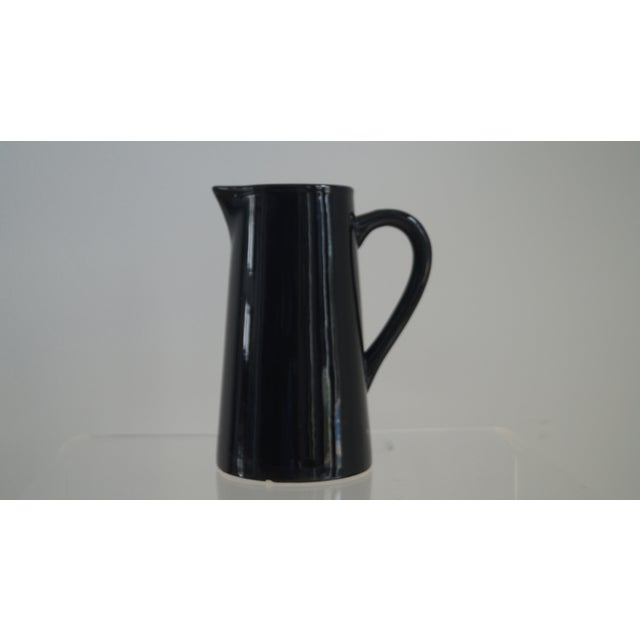 Modern Black High Gloss Pitcher For Sale - Image 4 of 4