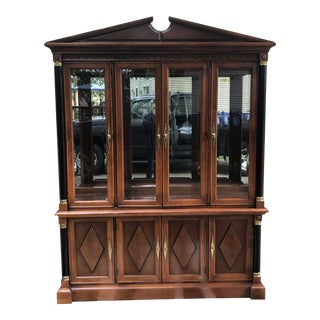 Mid Century Modern Stanley China Cabinet and Hutch For Sale