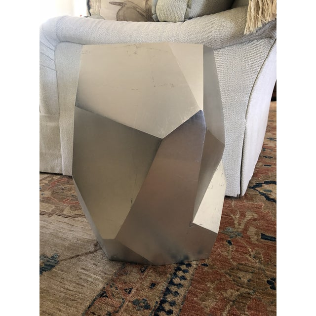 Cubism Minimalist Baker Quarry Accent Table For Sale - Image 3 of 9