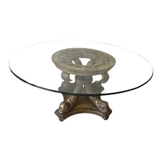 Thomasville Gold & Silver Gilt Dining Table