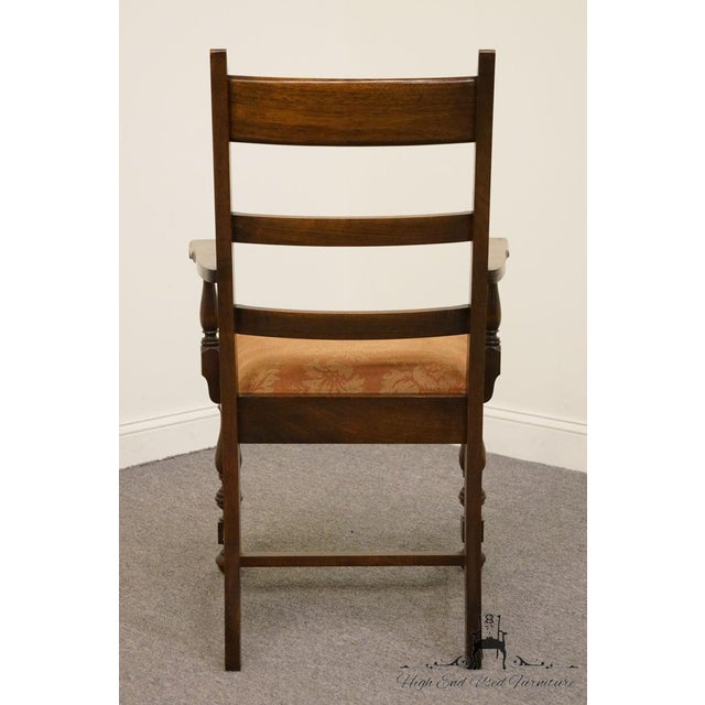1940s Antique Walnut Dining Armchair For Sale In Kansas City - Image 6 of 8