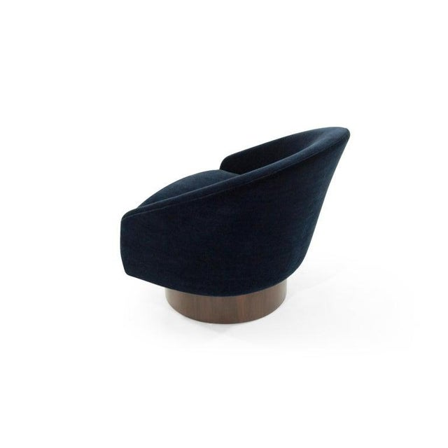 Blue Adrian Pearsall for Craft Associates Swivel Chairs in Deep Blue Mohair For Sale - Image 8 of 12