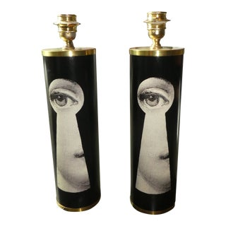 Mid Century Fornasetti Julia Keyhole Lamps- a Pair For Sale