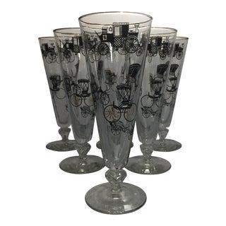 Vintage Pilsner Glasses - Set of 6 For Sale