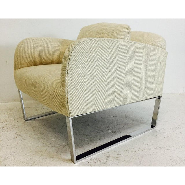 Modern Pair of Donghia Focal Deco Style Lounge Chairs For Sale - Image 3 of 8