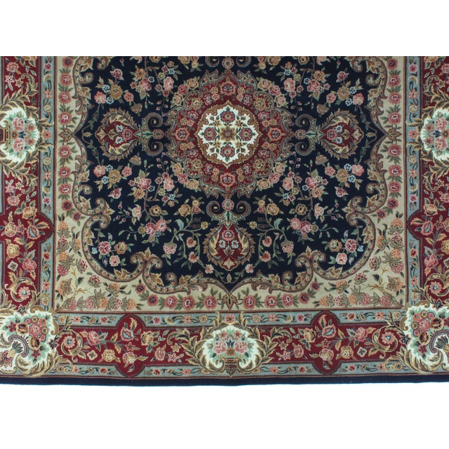 Square Sino Persian Carpet - 8′ × 8′1″ - Image 6 of 8