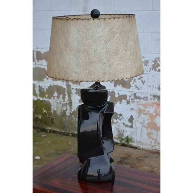1950s Abstract Ceramic Table Lamp For Sale - Image 4 of 13
