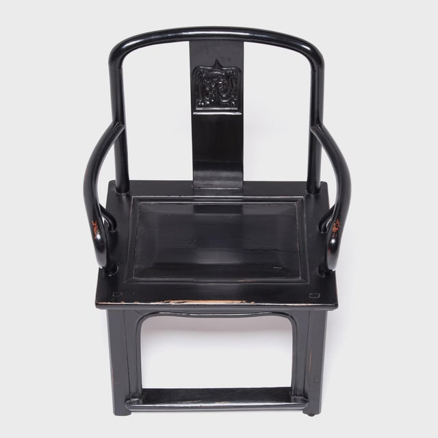 Mid 19th Century Chinese Black Guanmaoyi Chair For Sale - Image 5 of 8