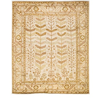 "Oushak, Hand Knotted Area Rug - 8' 4"" x 9' 8"" For Sale"
