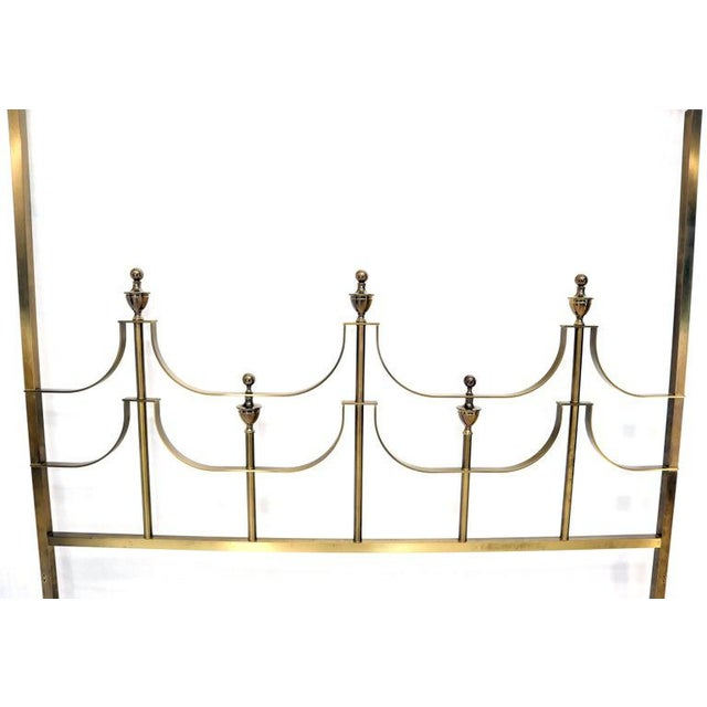 Mastercraft Solid Brass Mastercraft King Size Tall Headboard Bed For Sale - Image 4 of 10