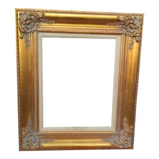 """Large Golden Gilded Wood Italian Baroque Picture/Mirror Frame 16""""x20"""" Opening"""