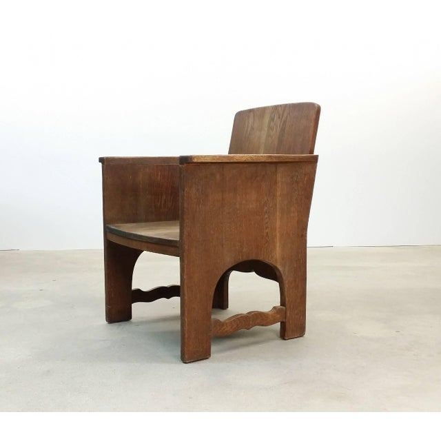 Early 20th Century Vintage Early European Arts and Crafts Chair For Sale - Image 12 of 12
