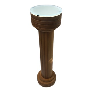 Post Modern Wood Pedestal For Sale
